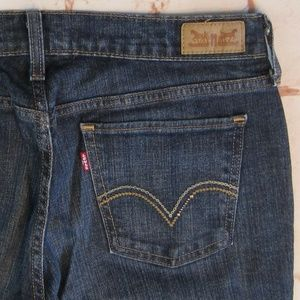 Women's Levis 515 Bootcut Jeans Sz 8 Stretch Dark